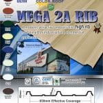 Mega 2A Rib   Rib Type Roofing   Puyat Steel